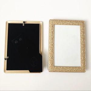 Gold Pebbled Photo Frames Set of 2